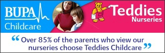 Teddies Nurseries Banner